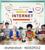internet connection networking... | Shutterstock . vector #463329212