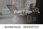 big data domain web page seo... | Shutterstock . vector #463333715