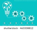 vector brainstorming business... | Shutterstock .eps vector #463338812