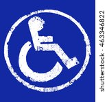 Disabled Icon Sign  Dark Blue...