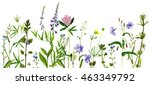background with watercolor... | Shutterstock . vector #463349792