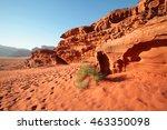 desert at wadi rum  jordan | Shutterstock . vector #463350098