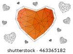 light orange heart isolated on... | Shutterstock .eps vector #463365182
