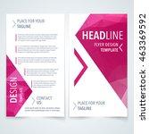 vector modern flyer  poster or... | Shutterstock .eps vector #463369592