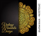 ethnic decorative round gold... | Shutterstock .eps vector #463370162