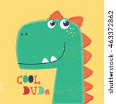 cute dinosaur head drawing for...   Shutterstock .eps vector #463372862