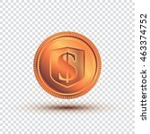 copper coin on a transparent...   Shutterstock .eps vector #463374752