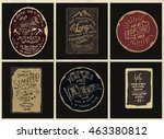 vintage simple label collection | Shutterstock .eps vector #463380812