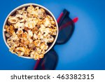 paper container with popcorn... | Shutterstock . vector #463382315