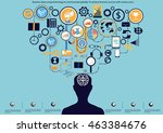vector business ideas using... | Shutterstock .eps vector #463384676