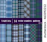 set tartan seamless pattern.... | Shutterstock .eps vector #463392212