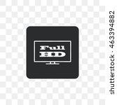 full hd widescreen tv sign icon. | Shutterstock .eps vector #463394882