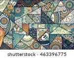 patchwork pattern. vintage... | Shutterstock .eps vector #463396775