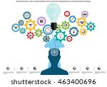 vector businessman ideas ... | Shutterstock .eps vector #463400696