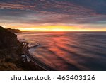 sea cliff bridge on sunrise... | Shutterstock . vector #463403126
