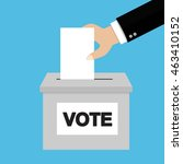 voting concept in flat style | Shutterstock .eps vector #463410152