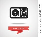 dj disk icon | Shutterstock .eps vector #463421675