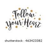 follow heart alphabet... | Shutterstock .eps vector #463423382