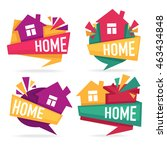 my little home  vector... | Shutterstock .eps vector #463434848