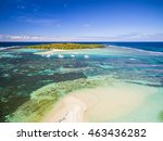 mauritius beach aerial view of... | Shutterstock . vector #463436282