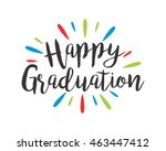 happy graduation icon 1   Shutterstock .eps vector #463447412