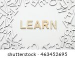 word learn wooden alphabet... | Shutterstock . vector #463452695