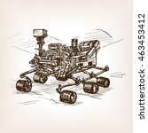 mars rover sketch style vector... | Shutterstock .eps vector #463453412