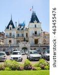 Small photo of EVIAN-LES-BAINS, FRANCE JUL 04, 2016: Hotel de Ville in Evian-les-Bains