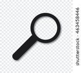 magnifier icon vector... | Shutterstock .eps vector #463458446