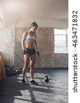 full length shot of strong... | Shutterstock . vector #463471832