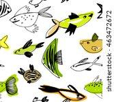 cute fish vector illustration...   Shutterstock .eps vector #463472672