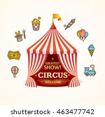 circus concept can be used for... | Shutterstock . vector #463477742