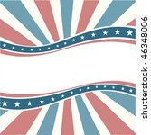 old colors american wave... | Shutterstock .eps vector #46348006