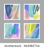 set of artistic creative... | Shutterstock .eps vector #463482716