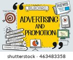 advertising and promotion... | Shutterstock .eps vector #463483358
