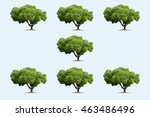 seven three in the soft blue... | Shutterstock . vector #463486496