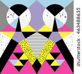 retro memphis seamless pattern. ...   Shutterstock .eps vector #463488635