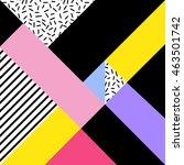 retro memphis pattern....   Shutterstock .eps vector #463501742