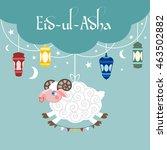 muslim festival eid ul adha... | Shutterstock .eps vector #463502882