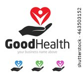 good health logo template... | Shutterstock .eps vector #463503152