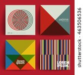 abstract covers set. modernism. ... | Shutterstock .eps vector #463506536