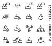 vector line office people icon... | Shutterstock .eps vector #463516328