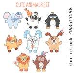 cartoon animals and pets   Shutterstock .eps vector #463519598