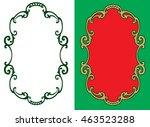 decorative vintage frame....   Shutterstock .eps vector #463523288