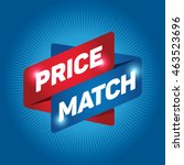 price match arrow tag sign icon. | Shutterstock .eps vector #463523696
