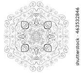 abstract mandala circular... | Shutterstock . vector #463532846
