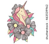cute unicorn vector... | Shutterstock .eps vector #463539962