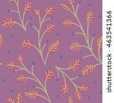 sweet floral pattern lovely... | Shutterstock .eps vector #463541366