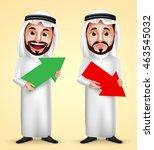 saudi arab man vector character ... | Shutterstock .eps vector #463545032