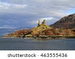 Small photo of Castle Moil Castleis a ruined castle located near the harbour of the village of Kyleakin, Isle of Skye, Scotland, United Kingdom